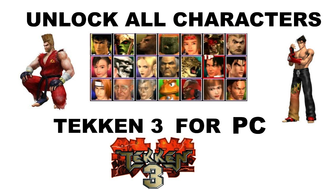 June 2017 How To Unlock All Tekken 3 Character In 1 Minute Pc In Hind Youtube