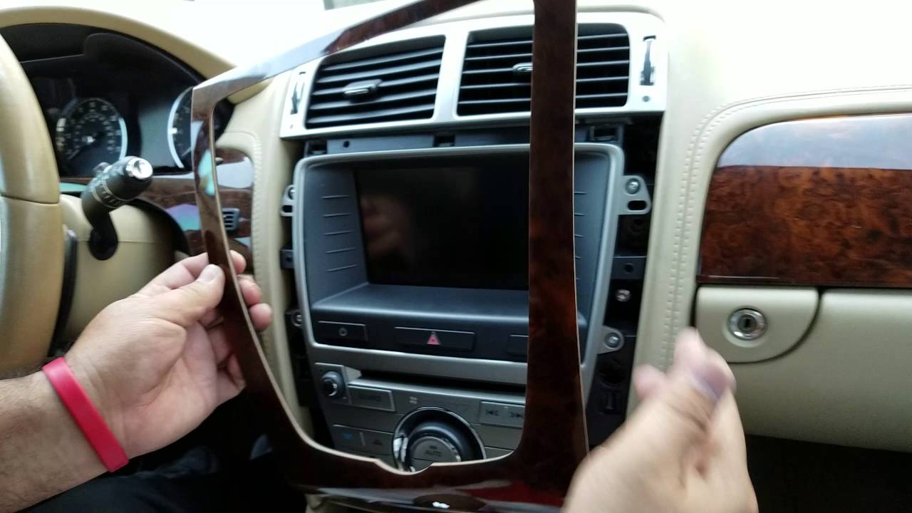 how to remove radio navigation display from jaguar xk 2008 for repair  [ 1280 x 720 Pixel ]