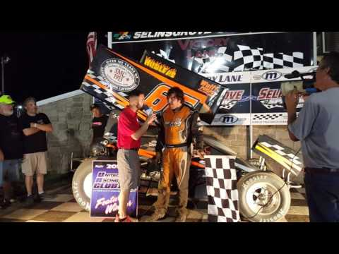 Selinsgrove Speedway 360 Sprint Car Victory Lane 6-04-16