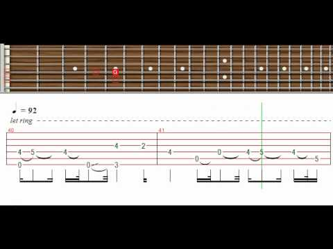 Creed Lullaby Tutorial Guitar Pro Youtube