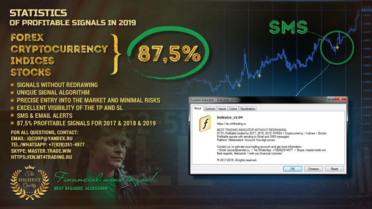 无需重新提款即可进行交易的最佳外汇指标2019。 1 TOP指标中最好的外汇策略。 信号获利率87.5%+电子邮件和短信提醒。