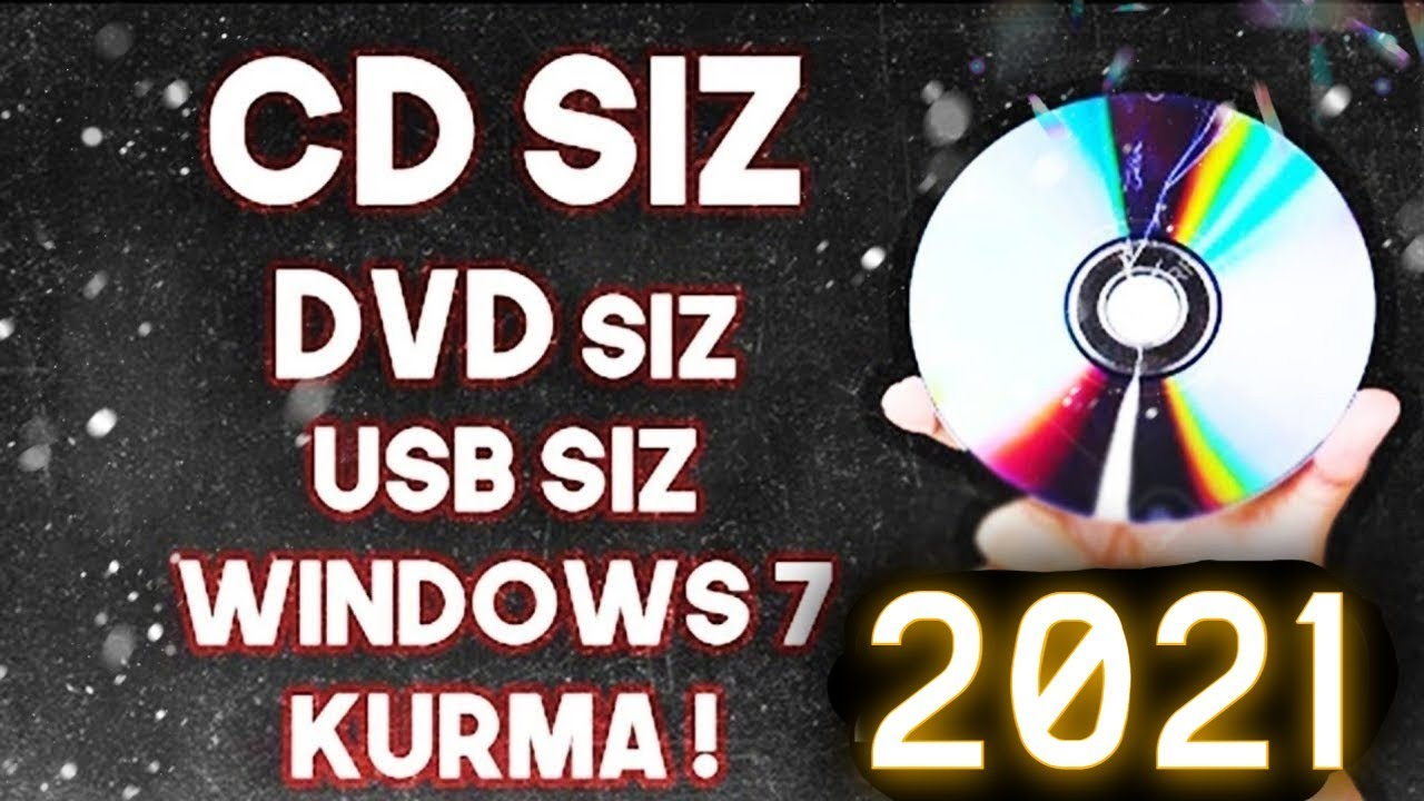 Windows 7 cd siz format atma.