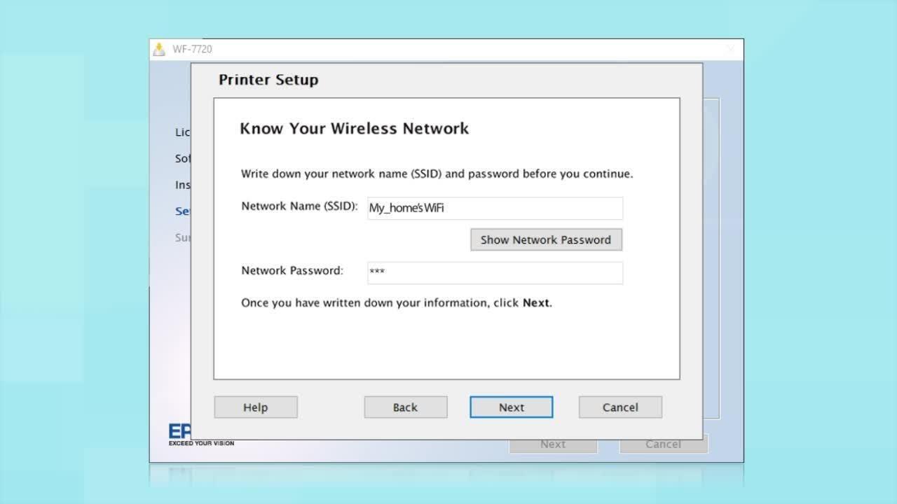 Epson WF-7710 & WF-7720 | Wireless Setup Using the Control Panel