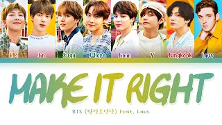 BTS Make it Right  feat  Lauv  s                  Make it Right          Color Coded sHanRomEng  Resimi