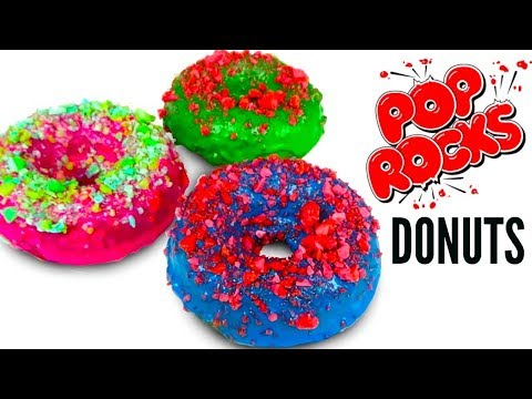 POP ROCKS DONUTS - How To Make Pop Rock Candy Donut DIY