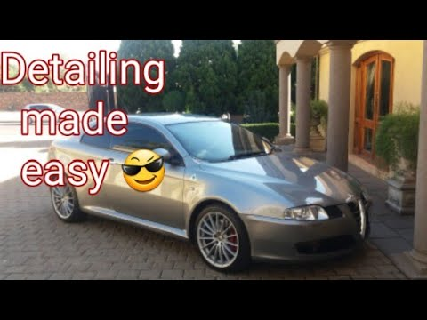Diy Detailing Like A Pro. Detailing Made Easy!! Alfa Romeo Gt