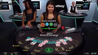 Live Blackjack - 50€ Hand - Betway Casino