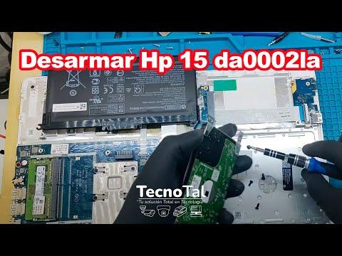 Desarmar Hp 15 da0002la para Cambio de HDD a SSD, Memoria Ram o Limpieza