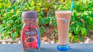 Nescafe ile Çikolatalı ve Vanilyalı Dondurmalı Soğuk Kahve