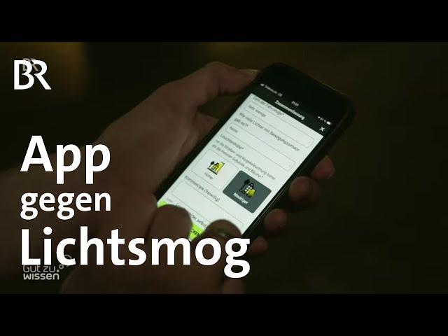 Daten gegen Lichtverschmutzung per App sammeln | Gut zu wissen | BR