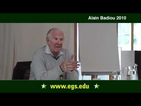Alain Badiou. What is Philosophy? (Part II). 2010.