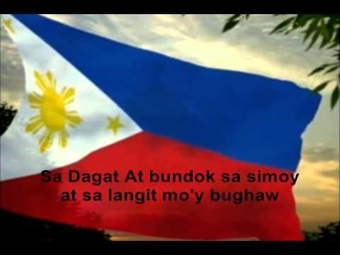 philippine natio nal anthem with lyrics