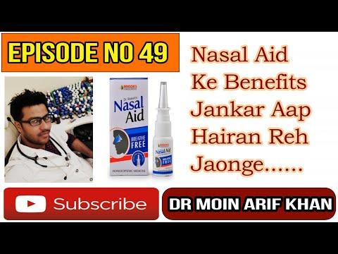 Nasal Aid Spray ! Homeopathic Nasal Spray For Nasal Congestion & Blockage Of Nose