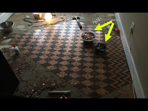 Woman Throws 13,000 Pennies On The Floor For A Reason That Leaves Guests Speechless