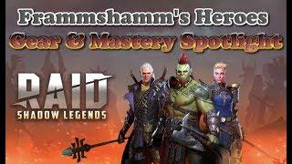 Raid: Shadow Legends - My Hero Gear & Masteries by Frammshamm