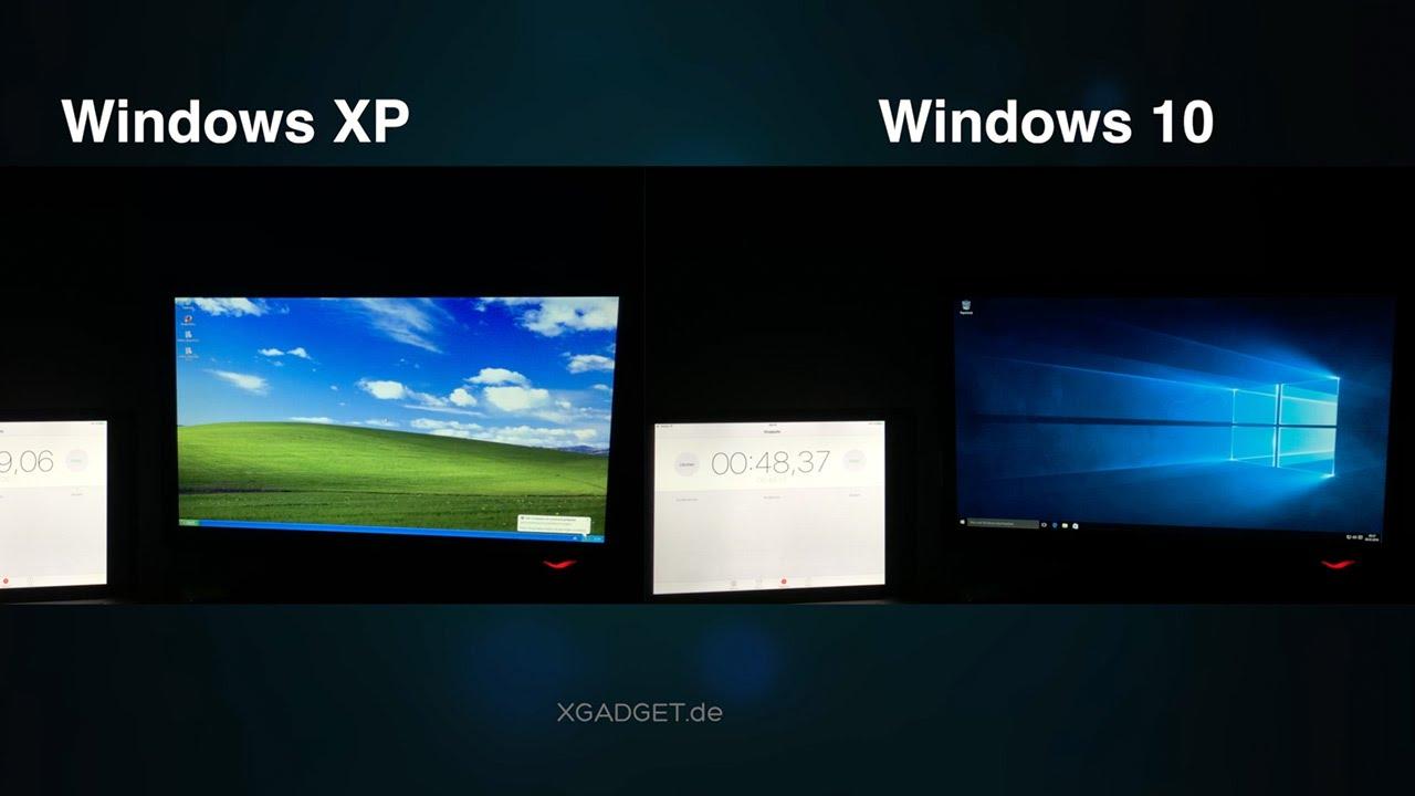 Windows XP vs. Windows 10 - Boot Time @ Pentium 4 - YouTube