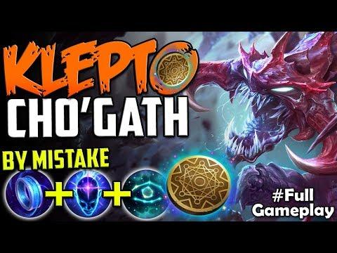 KLEPTO CHO'GATH by Mistake :D   New Runes Cho'Gath Kleptomancy TOP   RANKED SEASON 8 Gameplay