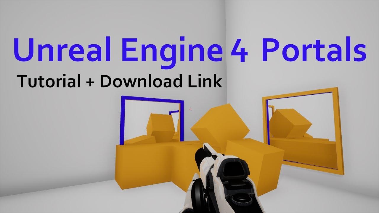 Portal Rendering and Teleportation Tutorial (Download Link in Description)  -Unreal Engine 4