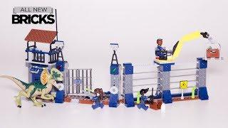 Lego Jurassic World Dilophosaurus Outpost Attack Lego Speed Build 75931