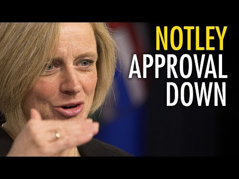 """Notley's approval rating """"sinking like a stone"""""""