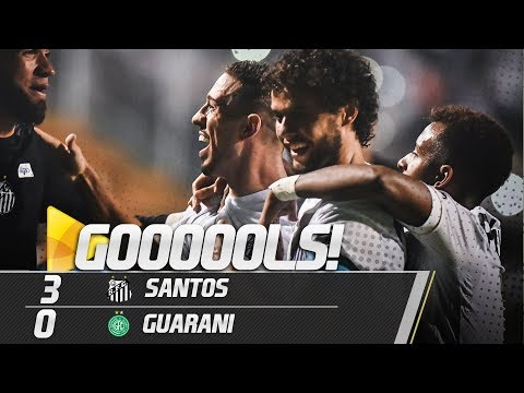 Santos 3 x 0 Guarani | GOLS | Paulistão (18/02/19)