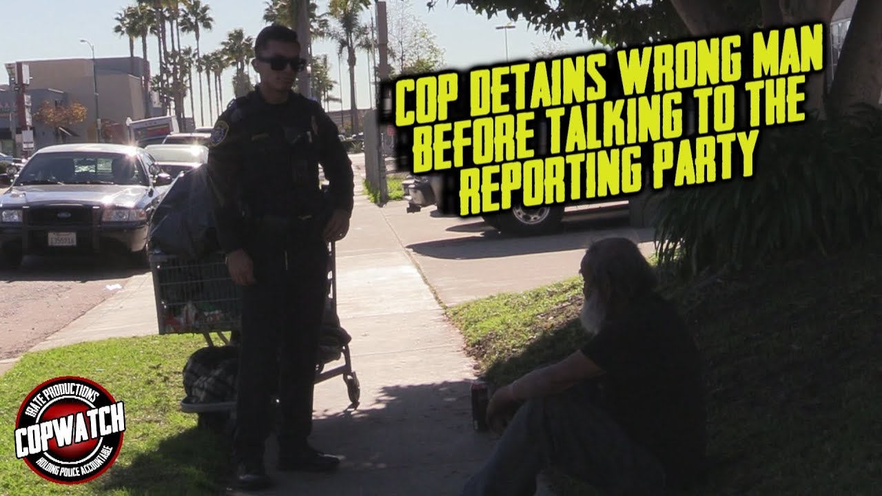Copwatch | Cop Detains Wrong Man Before Talking to Reporting Party | Allegedly Casing Cars
