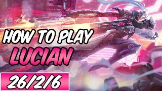 HOW TO PLAY LUCIAN Build &amp Runes Diamond Commentary PROJECT Lucian League of Legend ...