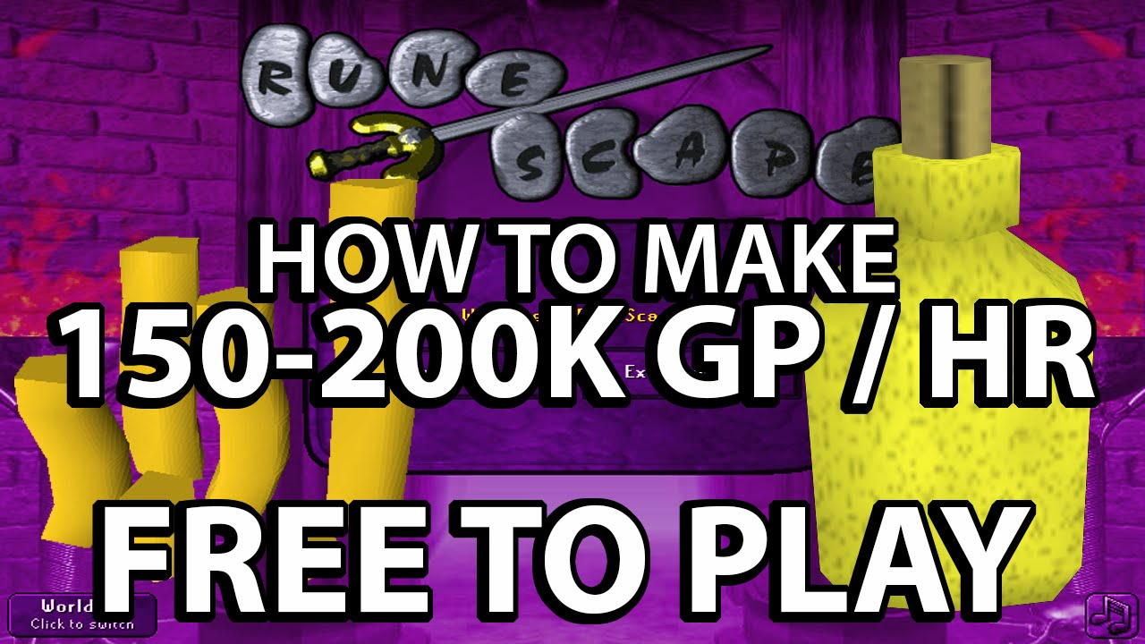 Best ways to make money in rs earn free runescape gold & membership.