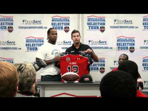 Issac Gross' Under Armour All-America Jersey Prese...