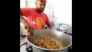 Cookin with Batman: Bhagi (Spinach) Rice with Chicken  Taste of Trini