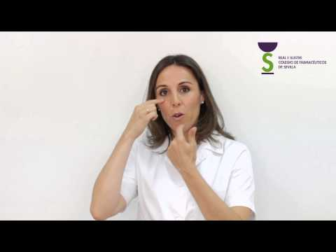 Cómo administrar colirios y pomadas oftálmicas
