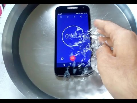 MOTO E3 Power Water test | Moto e3 can survive water tst | drop in water | is it realy water proof??