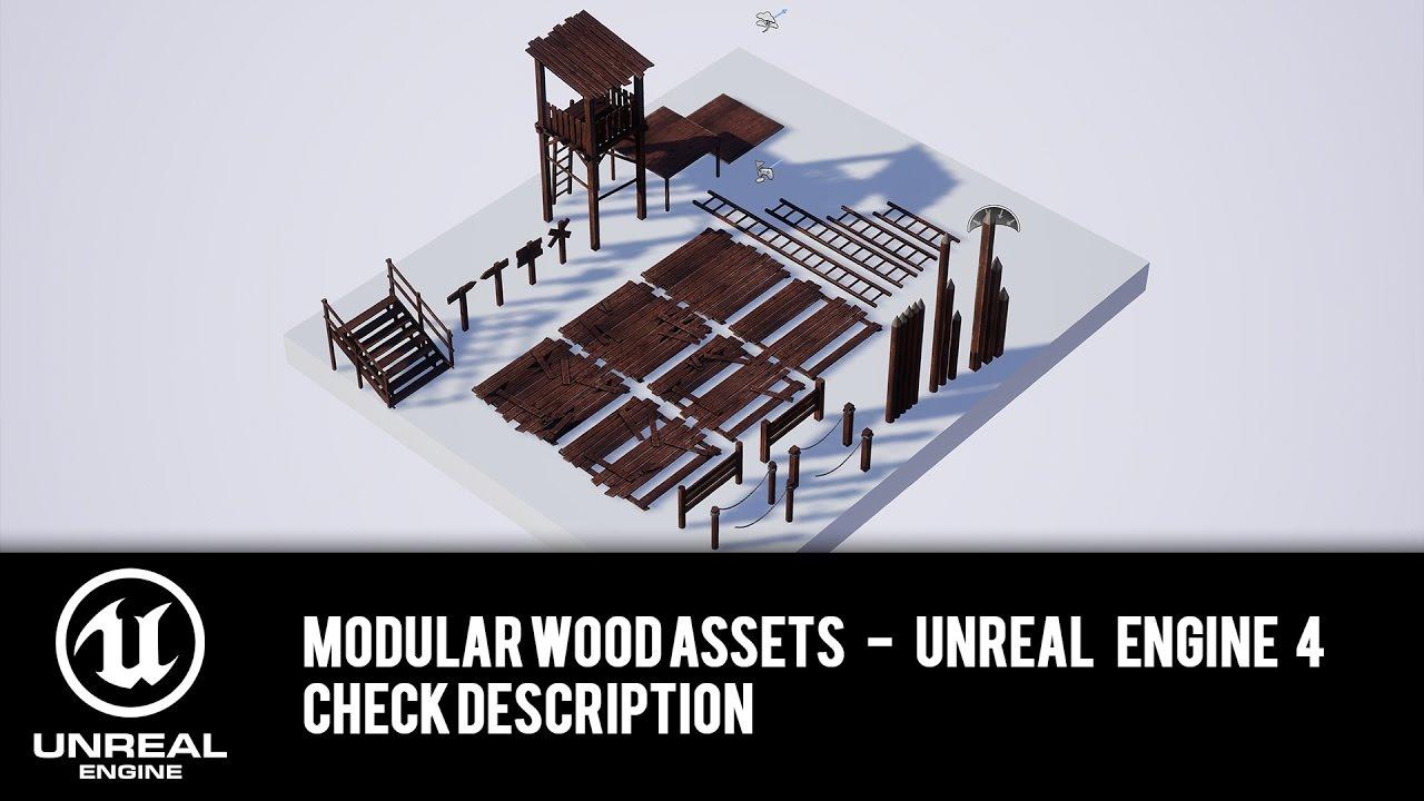 MODULAR WOOD ASSET PACK for UE4 - Check description