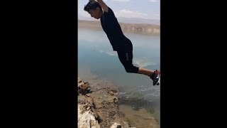 Landing The Perfect Backflip In A Lake
