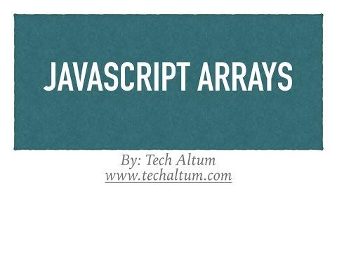 Javascript Arrays | js array, array methods
