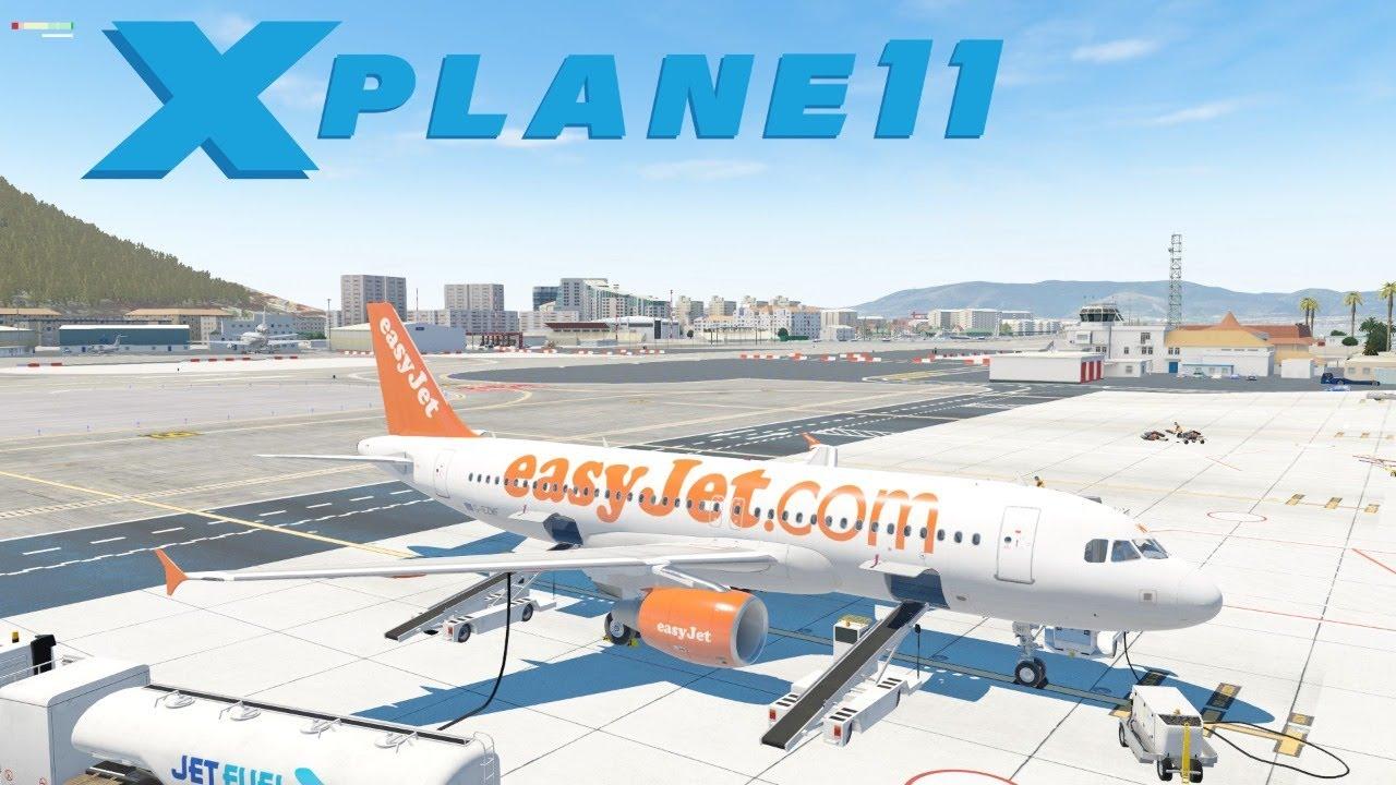 easyJet on a not so easy Gibraltar LXGB   FFA320 xEnviro VATSIM