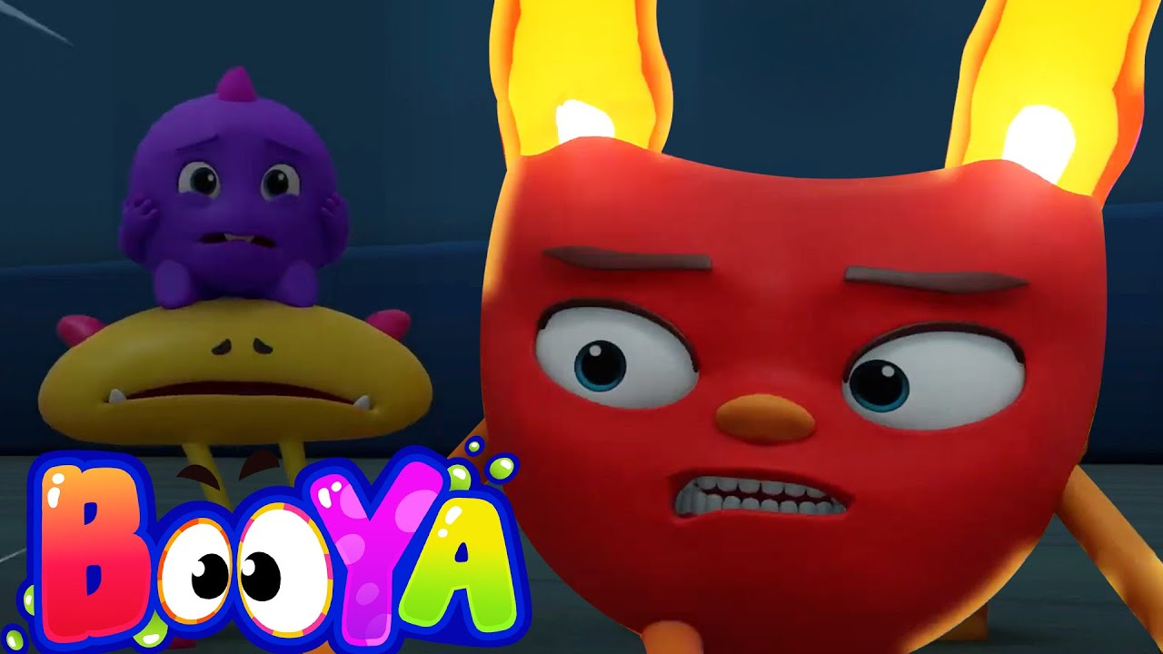 Scaredy Booya | Funny Animated Videos For Kids | Booya Cartoons for Baby and Children