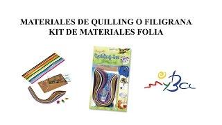 Materiales y herramientas básicos para quilling o filigrana. Unboxing.