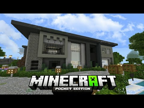 Casa moderna autom tica para minecraft pocket edition 2018 for Casa moderna minecraft pe 0 10 4