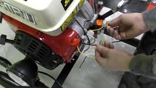 подключение проводки на мотоблок Shtenli 1900  пониж  передачей