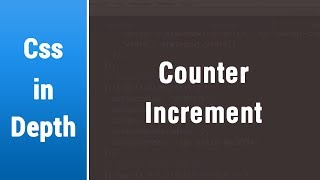 Arabic Css Lessons - Counter Increment and How To Use It