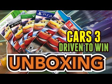 Disney Pixar's Cars 3 Driven to Win (PS4/Xbox One/Switch/Wii U/Xbox 360/PS3) Unboxing !!