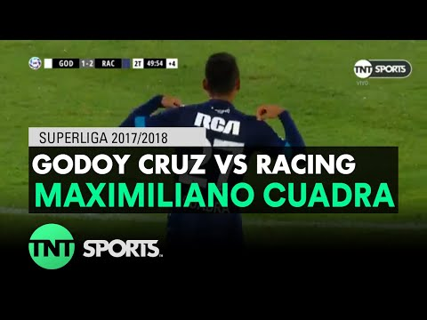 Maximiliano Cuadra (1-2) Godoy Cruz vs Racing | Fecha 17 - Superliga Argentina 2017/2018