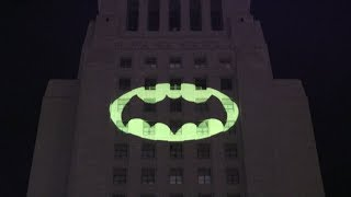 Bat-signal LIGHTS UP Los Angeles in Tribute to 'Batman' Adam West | What's Trending Now!