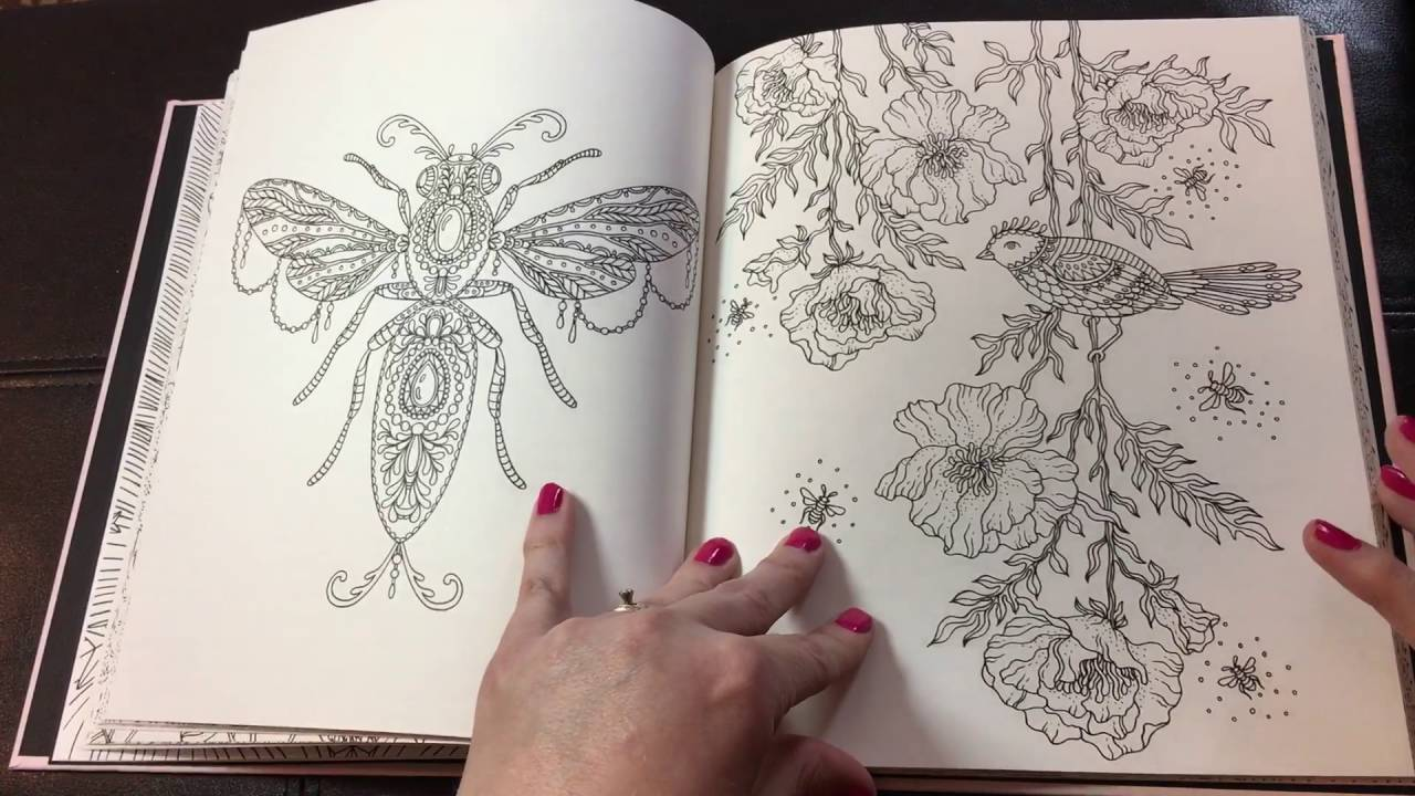 Summer Nights Hanna Karlzon flip through adult coloring review