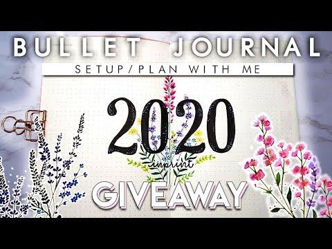 2020 Bullet Journal Setup | Plan With Me | 50K Special