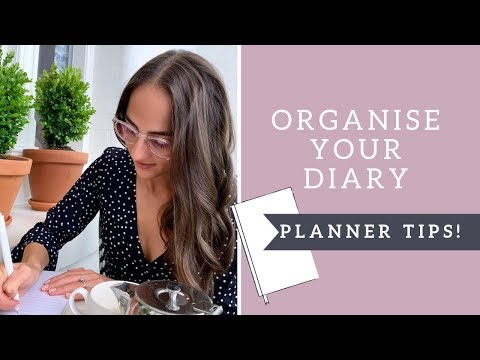 How to organize your planner / diary for 2019!