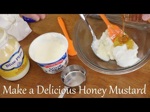 How to Make Honey Mustard Sauce and an option for a similar Chick fil a sauce in recipe!