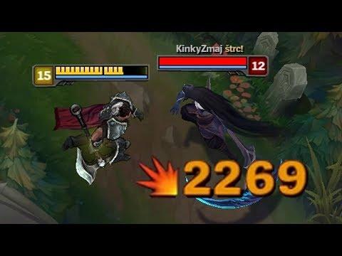 2000 Crit Every Auto Attack - Full Crit Darius [ League Of Legends ]