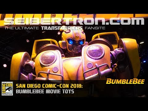 Transformers BUMBLEBEE Movie toys shown at SDCC 2018